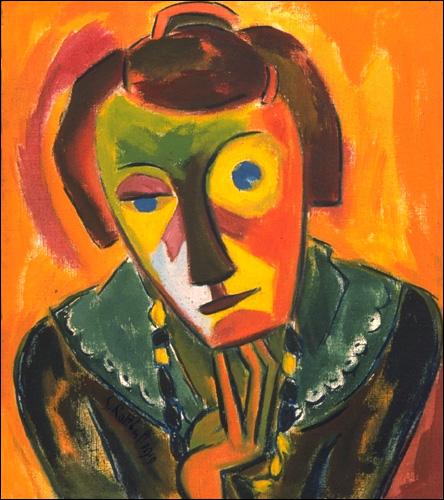 Expressioinism -- Portait of Emy 1919 Karl Schmidt-Rottluff